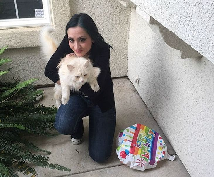 хозяйка и её кот