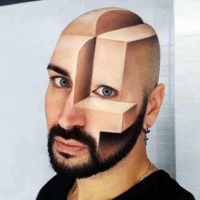 иллюзия на лице
