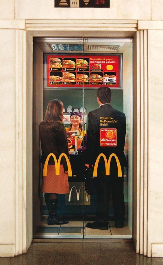 лифт с фото из макдональдса