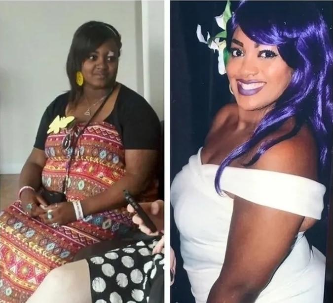 афроамериканка до и после