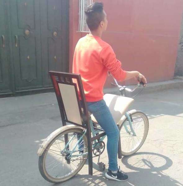 странный велосипед