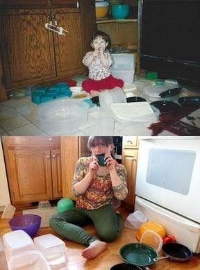 девушка тогда и сейчас