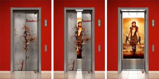 лифт с постером обители зла 3