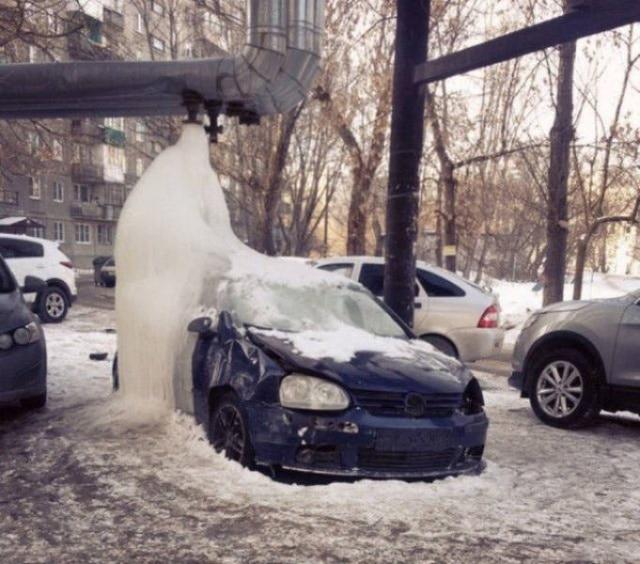 лед замерз