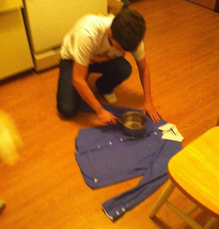 гладить рубашку
