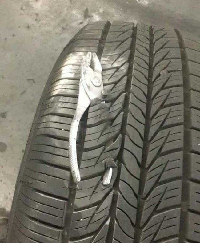 прокол шины