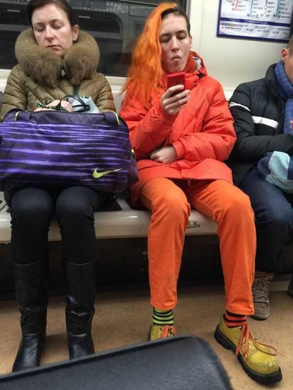 фото странных людей в метро спб вас было