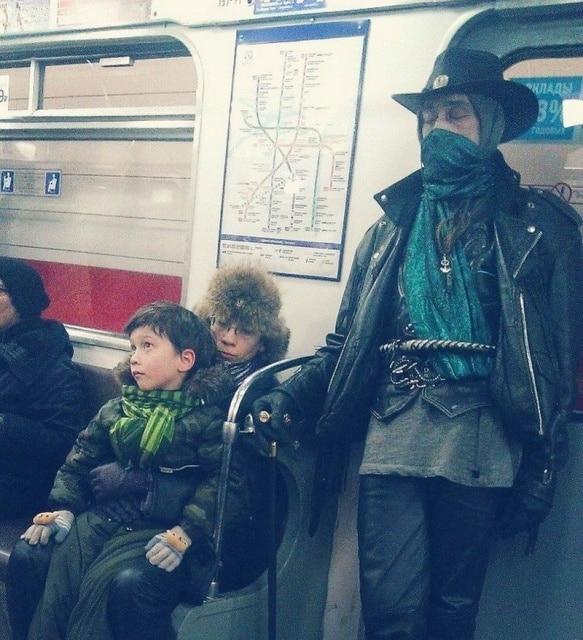 ковбой в метро